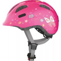 ABUS Hjelm Smiley 2.0 pink butterfly - 45-50 cm - S - Pink