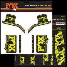 Fox Decal 16 Heritage, Fork & Shock Kit - Gul