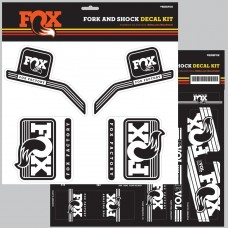 Fox Decal 16 Heritage, Fork & Shock Kit - Hvid