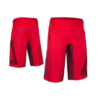 ION Bikeshorts Traze Amp Blazing Red - XL - Rød