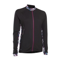 Tee Full Zip LS Traze Amp Wms - L - Sort